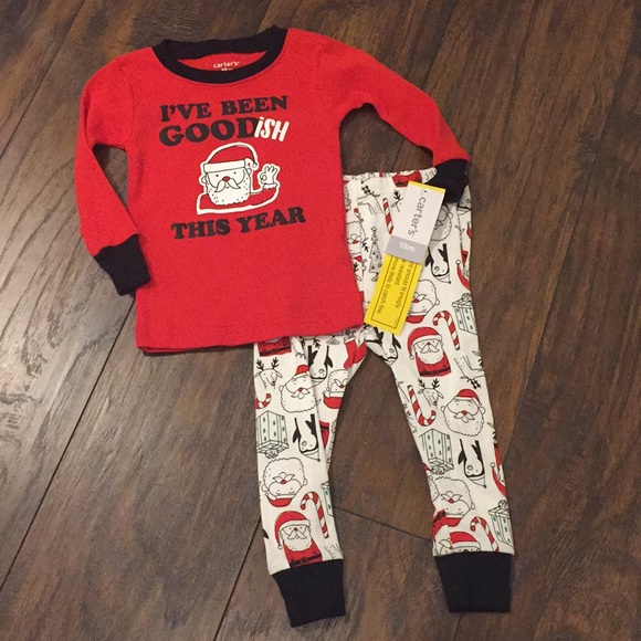 CARTER/'S® Boys/' 12 Santa Goodish 2-Piece Cotton Pajama Set NWT